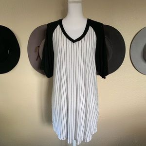 Brandy Melville John Galt Striped Baseball Tee
